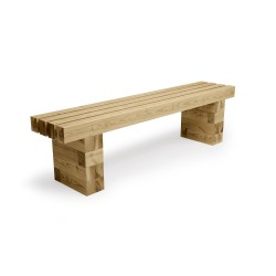 WoodBlocX Street Furniture Torridon Bench - WoodBlocX