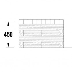 WoodBlocX Street Furniture McDui Planter Bench - WoodBlocX