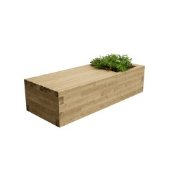 WoodBlocX Street Furniture McDui Planter Bench image