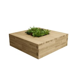 WoodBlocX Street Furniture Lomond Planter Bench - WoodBlocX