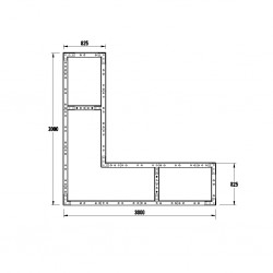 WoodBlocX Street Furniture Laggan Planter - WoodBlocX