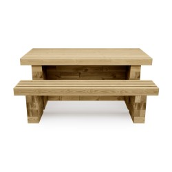 WoodBlocX Street Furniture Glencoe Picnic Table - WoodBlocX