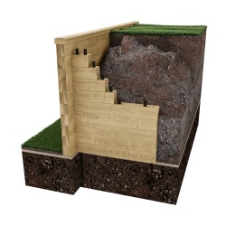WoodBlocX Retaining Wall image