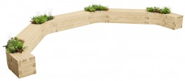 WoodBlocX Lochaber C-Shape Planter Bench image