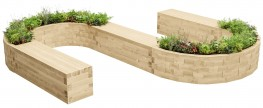 WoodBlocX Lochaber S-Shape Planter Bench image