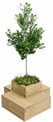 WoodBlocX Small Drumbeg Tree Planter image