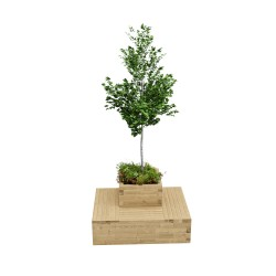 WoodBlocX Medium Drumbeg Tree Planter image