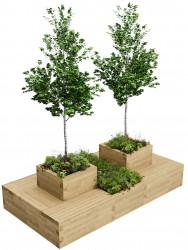 WoodBlocX Large Drumbeg Tree Planter image