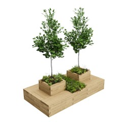 WoodBlocX Large Drumbeg Tree Planter - WoodBlocX