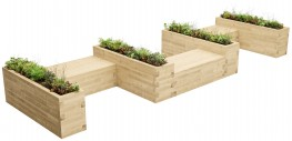 WoodBlocX Canisp Castellated Planter Bench image
