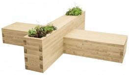 WoodBlocX Canisp Table & Bench image