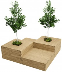 WoodBlocX Suilven Tree Planter Centrepiece image