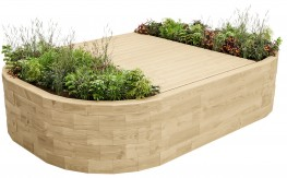 WoodBlocX Bealach Full Bench Planter - WoodBlocX