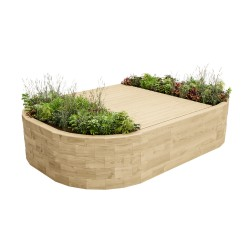 WoodBlocX Bealach Full Bench Planter image