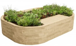 WoodBlocX Bealach Double Bench Planter - WoodBlocX