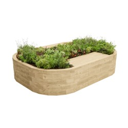 WoodBlocX Bealach Double Bench Planter image