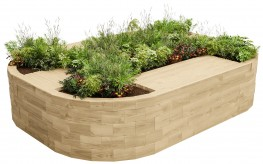 WoodBlocX Bealach Quad Bench Planter image