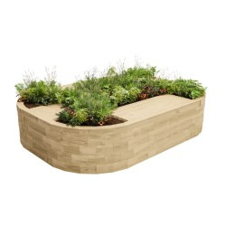 WoodBlocX Bealach Quad Bench Planter - WoodBlocX