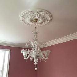 Large Plaster Coving Victorian Swan Neck Drop 145mm LPC017 image