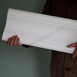 Plaster Coving Plain Run 150mm Drop LPC050 - Plaster Ceiling Roses