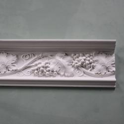 Plaster Coving Grapes & Vine 220mm Drop LPC023 - Plaster Ceiling Roses