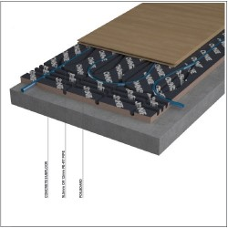 Underfloor heating for floating floors - OMNIE FoilBoard image