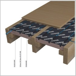 Underfloor heating for suspended floors - FoilBoard image
