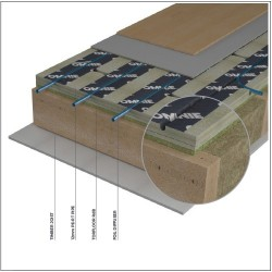 Acoustic dampening structural deck and an underfloor heating system - TorFloor Acoustic flooring image