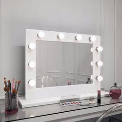 Lopez Hollywood Mirror in White Gloss 60 x 80cm image