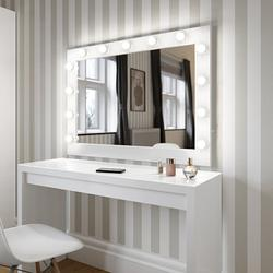 Audrey Hollywood Mirror in White Gloss 80 x 100cm image