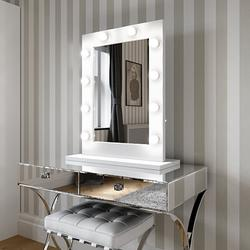 Julia Hollywood Mirror in White Gloss 80 x 60cm image