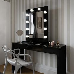 Angelina Hollywood Mirror in Black Gloss 80 x 60cm image