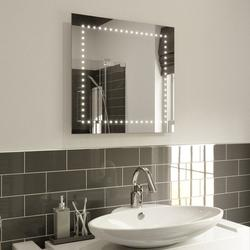 LED Illuminated Bathroom Mirror with Lights, Demister Pad & Sensor Switch 60x60cm image