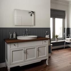 Battery Operated LED Bathroom Mirror, Ultra Slim 50x70cm image