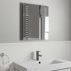 LED Illuminated Bathroom Mirror, Demister Pad & Motion Sensor 60x50cm image