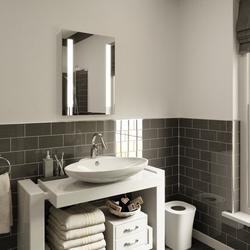 LED Illuminated Bathroom Mirror Ultra Slim with Demister Pad 70x50cm image