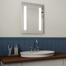 LED Illuminated Bathroom Mirror, Ultra Slim, IP44 Rated 45x60cm image