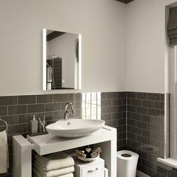 Ultra Slim LED Bathroom Mirror with Demister Pad, IP44 Rated 70x50cm image