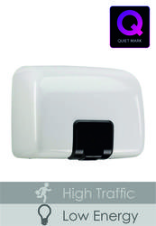 PL81MWH White Metal Quartz Hand Dryer image