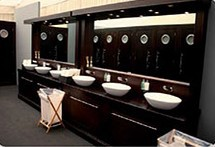 The Dark Oak MODUVAC® is built from solid oak. The hand basin units are available with three ceramic basins and infra red taps. The cubicles are fitted with white vacuum loo pans. The flooring is dark grey slate tiles. The modular system comprises various com...