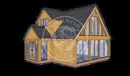 Oak framed Annexes & Garden Homes ANX-N3002 FROM  35,289 + VAT image