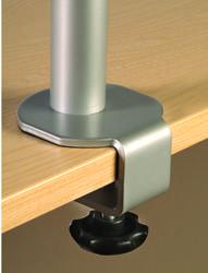 HAFSA Triple Monitor Flat Screen Arm Silver image