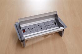 AeroFlip Desk Power Module 2xUK, 1xSwitch, 2xData & 1xVGA image