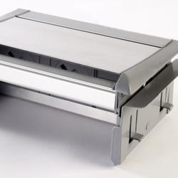 Aero Flip Desk Power Module 2xUK, 1x Switch & 2xData Grey/Silver image