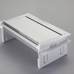 Aero Flip Desk Power Module 2xUK, 1xSwitch & 2xData White/Silver image