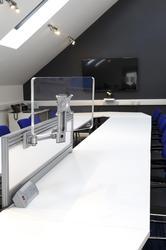 HAFSA Tool Rail Mounted Monitor Arm Silver image