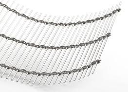 Material:Stainless steel Free area:approx. 65.9% Total mesh thickness:approx. 10.0 mm Weight:approx. 8.5 kg/m² Maximum mesh width:8 m Standard width:6 m...