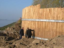 Durable Wood and Timber Retaining Walls image