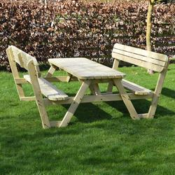 Fine Lyddington Rounded Picnic Bench 7Ft By Rutland County Pabps2019 Chair Design Images Pabps2019Com