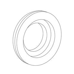 """1 1/2"""" Dome Washer image"""